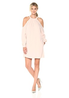 BCBG Max Azria BCBGMax Azria Women's Josephine Cold Shoulder Halter Woven Dress  XS
