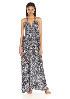 BCBG Max Azria BCBGMax Azria Women's Kamala Long Tie Neck Maxi Dress
