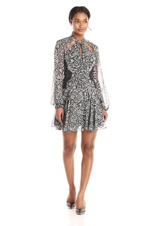 BCBGMax Azria Women's Kamiya Animal Printed Dress