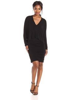 BCBGMax Azria Women's Kaylie Shirred Two-Fer Dress