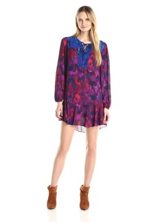 BCBGMax Azria Women's Kena Printed Babydoll Dress