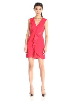 BCBG Max Azria BCBGMax Azria Women's Koralyn Lace Inset V-Neck Dress