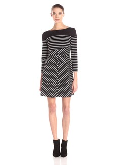 BCBGMax Azria Women's Koryn Stripe Blocked Dress
