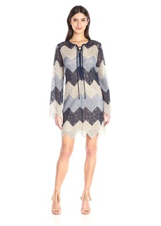 BCBGMax Azria Women's Larissa Zig Zag Lace Dress