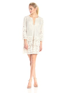 """BCBGMax Azria Women's """"Laurice"""" Lace Slit Neck Tunic Dress"""
