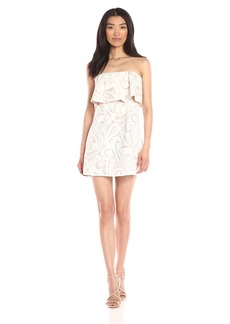 BCBGMax Azria Women's Leeah Strapless Lace Dress