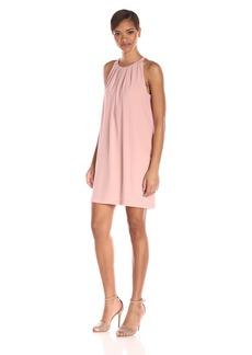 BCBGMax Azria Women's Linzie Sleeveless Pleated Shift Dress