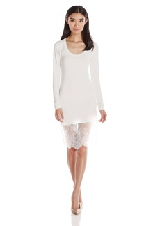 BCBGMax Azria Women's Livi Long Sleeve Dress with Lace Hem