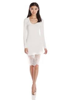 BCBGMax Azria Women's Livi Long Sleeve Dress with Lace Hem