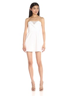 BCBGMax Azria Women's Madelaine Cocktail Dress with Lace Inset