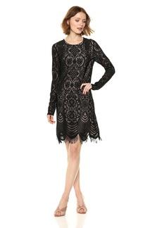 BCBG Max Azria BCBGMax Azria Women's Marae Knit Lace and Illusion Dress  S
