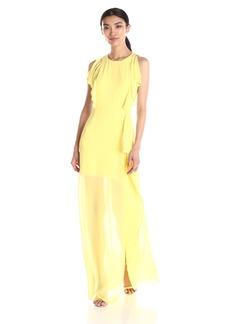 BCBG Max Azria BCBGMax Azria Women's Maribel Gown With Ruffle Side Skirt Drape