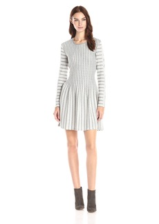 BCBGMax Azria Women's Marlin Long Sleeve A-Line Dress