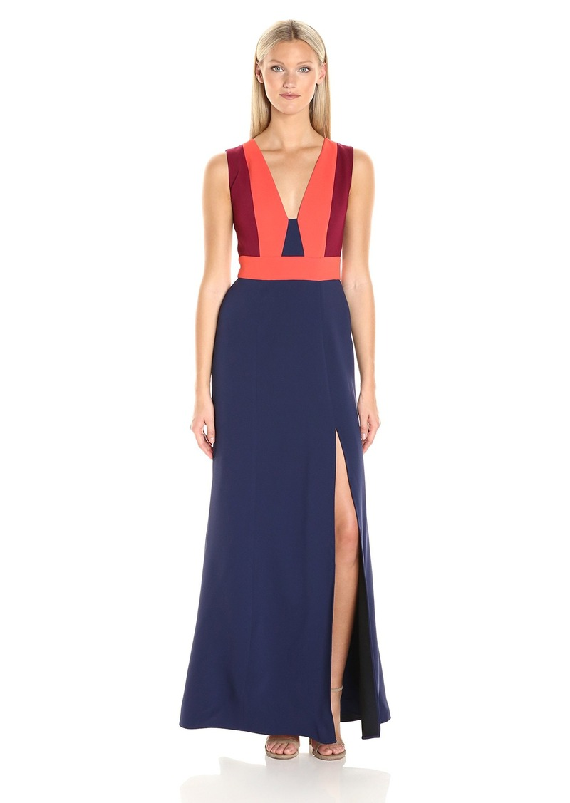BCBGMax Azria Women's Natalli Woven Evening Dress
