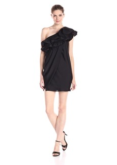 BCBGMax Azria Women's One Shoulder Ruffle Dress