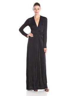 BCBGMax Azria Women's Pearl Wrap Maxi Dress