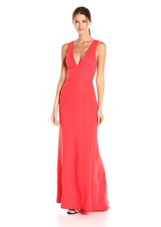 BCBG Max Azria BCBGMax Azria Women's Riva Deep V Woven Evening Dress