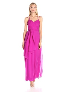 BCBGMax Azria Women's Rosabella Long Halter Evening Dress
