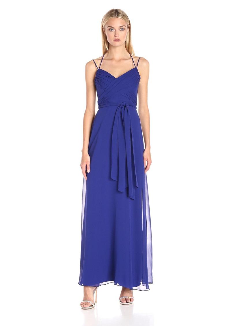 BCBGMax Azria Women's Rosabella Long Halter Evening Dress