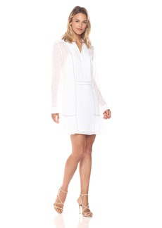 BCBGMax Azria Women's Rosaline Long Sleeved Woven Dress  S