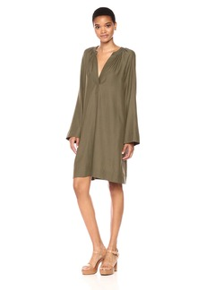 BCBGMax Azria Women's Roxanne Long Sleeved Woven Dress  M