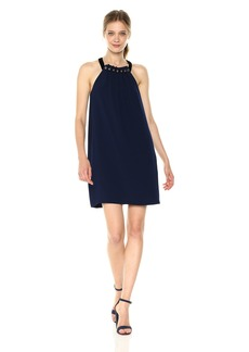 BCBGMax Azria Women's Roya Woven Studded Cocktail Dress  M