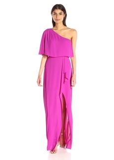 BCBGMax Azria Women's Secha Long One Shoulder Evening Dress