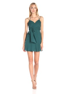 BCBGMax Azria Women's Shay Halter Front Evening Dress
