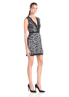 BCBGMax Azria Women's Sirena Scalloped Lace Coctail Dress