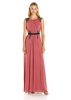 BCBGMax Azria Women's Stehla Knit Evening Dress