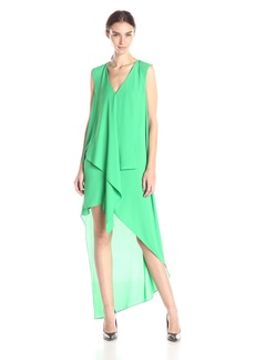 BCBGMax Azria Women's Tara Tiered Asymmetrical-Hem Dress