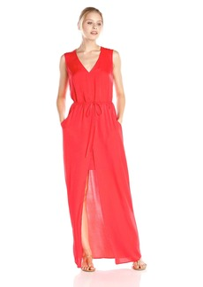 BCBG Max Azria BCBGMax Azria Women's Taren Long Slit Front Drawstring Dress