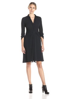 BCBGMax Azria Women's Tazar Shirt Dress with Draped Skirt