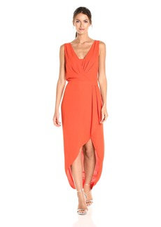 BCBGMax Azria Women's Tobyn Asymmetrical High Low Woven Dress  L