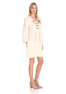 BCBGMax Azria Women's Tonya Lace up Placket Dress