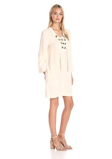 BCBG Max Azria BCBGMax Azria Women's Tonya Lace Up Placket Dress