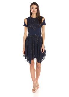 BCBG Max Azria BCBGMax Azria Women's Trish Knit and Lace Dress