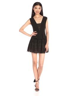 BCBGMax Azria Women's V-Neck Dress with Peplum