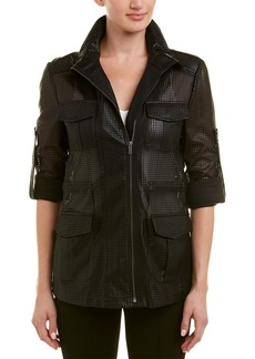Bcbgmaxazria Bronnen Perforated Jacket