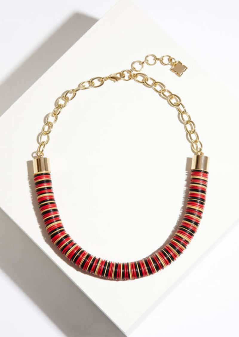 BCBG Beaded Chain Tribal Necklace