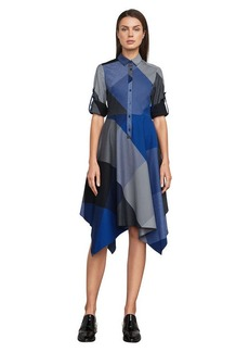 BCBG Beatryce Handkerchief Shirt Dress