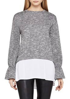 BCBG Bell-Cuff Twofer Sweater Top