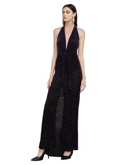 Bijou Leopard Burnout Halter Gown