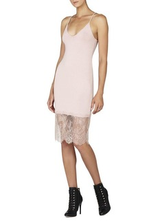 BCBG Bridgett Lace-Trim Slip Dress