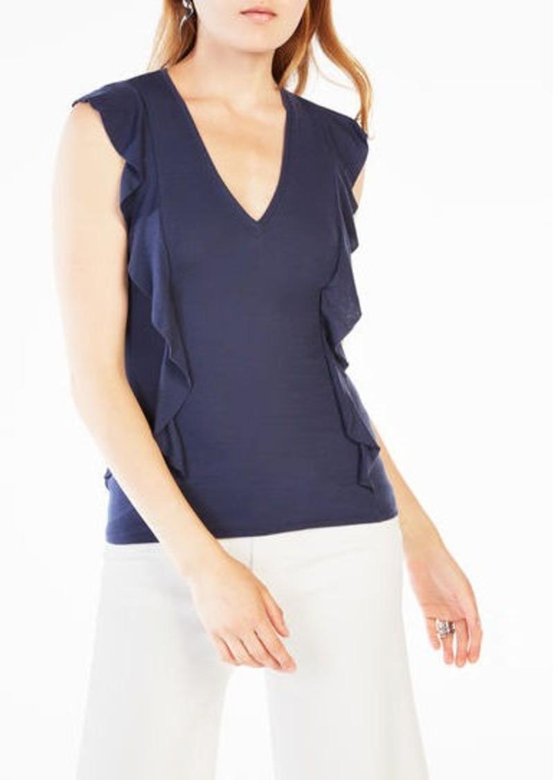 BCBG Brittney Ruffle-Sleeve Top