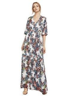 Carmen Abstract-Print Maxi Dress