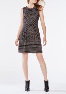 Cassandra Striped Chevron Dress