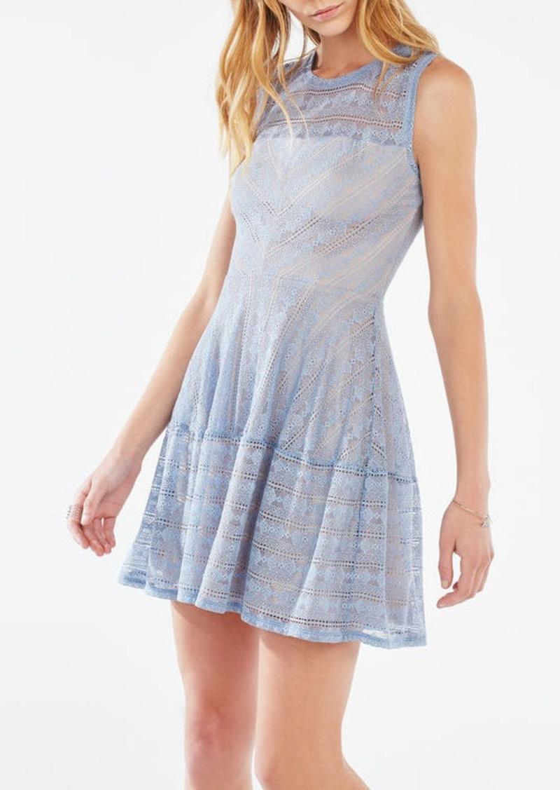 BCBG Cassandra Striped Lace Dress