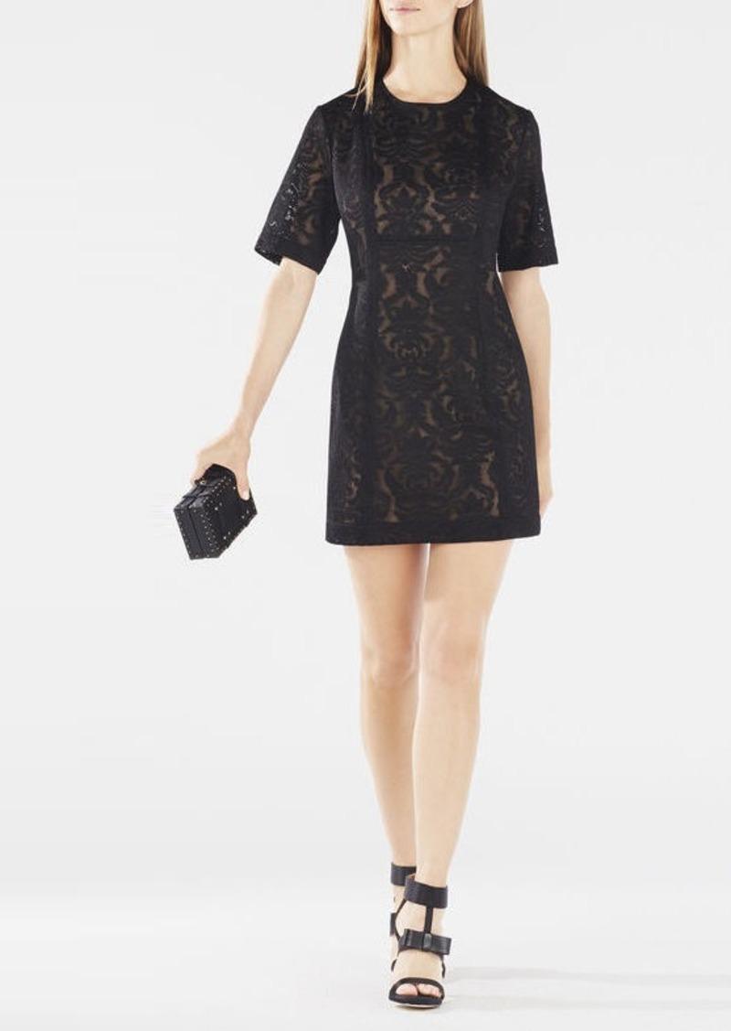 BCBG Ceara Wide-Sleeve Lace Dress