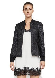 Charles Faux-Leather Quilted Jacket